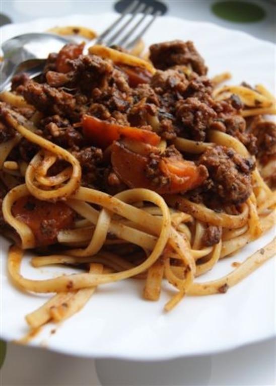 Spaghettii z marchewką