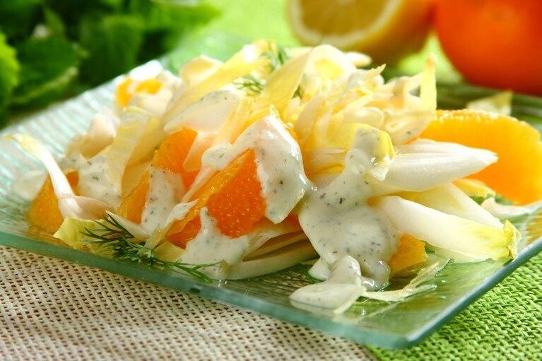 Surówka z cykorii i pomarańczy