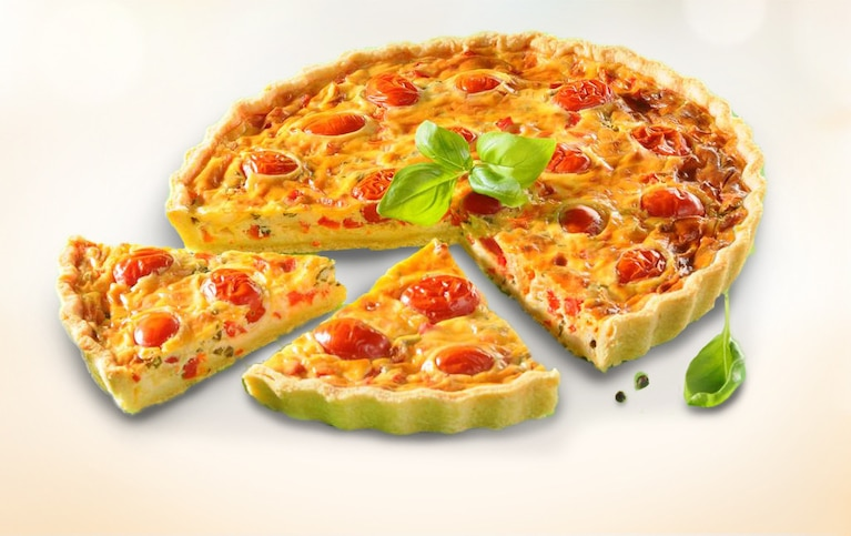 Tarta z fetą i pomidorami
