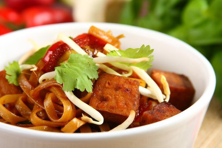Tofu obtoczone curry z warzywami