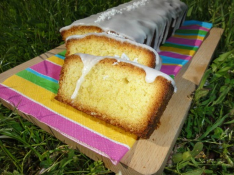 Ucierane ciasto cytrynowo- kokosowe