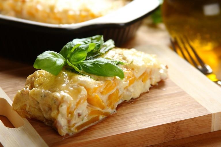 Zapiekana dynia z serem i boczkiem