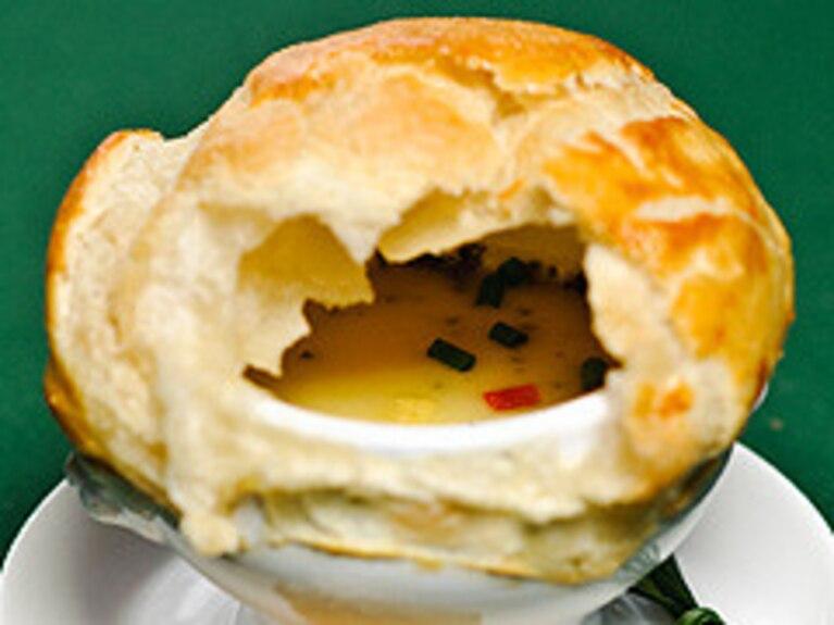 Zapiekana zupa serowa