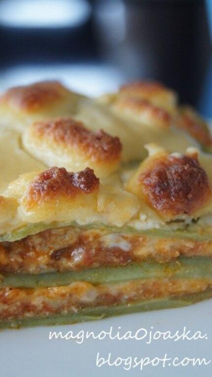 Zielona lasagne