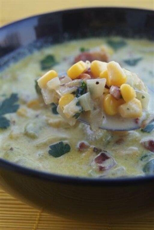 Zupa z kukurydzy i boczku