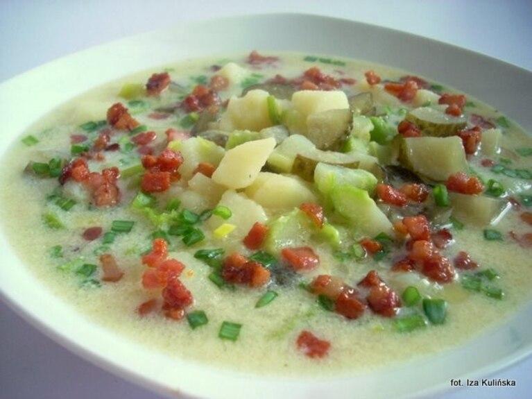 Zupa ziemniaczano-brukułowo-ogórkowa